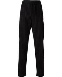 Pantalon de costume à rayures verticales noir Ann Demeulemeester