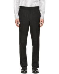Pantalon de costume à rayures verticales noir Comme des Garcons