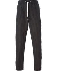 Pantalon de costume à rayures verticales noir Dolce & Gabbana