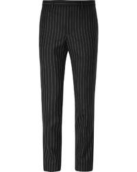 Pantalon de costume à rayures verticales noir Givenchy