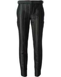 Pantalon de costume à rayures verticales noir Gucci
