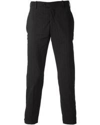 Pantalon de costume à rayures verticales noir Neil Barrett