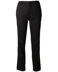 Pantalon de costume à rayures verticales noir