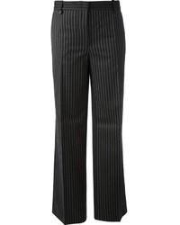 Pantalon de costume à rayures verticales noir Pinko