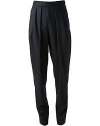 Pantalon de costume à rayures verticales noir Sonia Rykiel