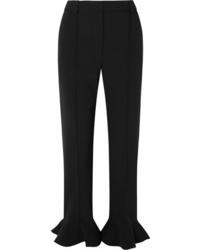 Pantalon de costume à volants noir Valentino