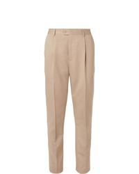 Pantalon de costume beige Brunello Cucinelli