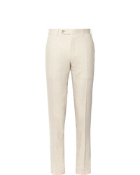 Pantalon de costume beige Canali