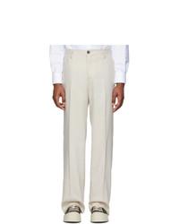 Pantalon de costume beige Eidos