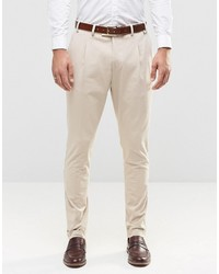 Pantalon de costume beige Jack and Jones