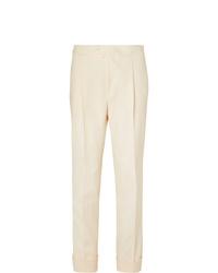 Pantalon de costume beige Saman Amel