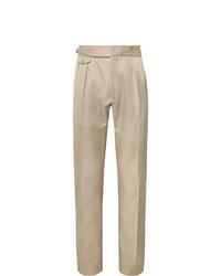 Pantalon de costume beige Zanella