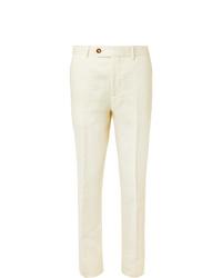 Pantalon de costume blanc Brunello Cucinelli