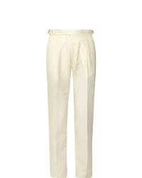 Pantalon de costume blanc Zanella