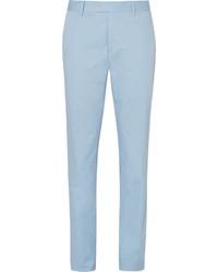 Pantalon de costume bleu clair Caruso