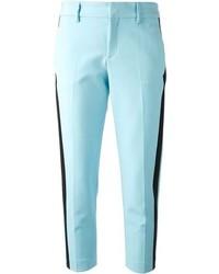Pantalon de costume bleu clair MSGM