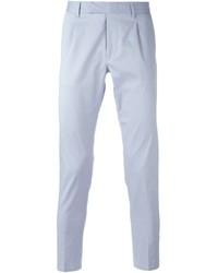 Pantalon de costume bleu clair Paolo Pecora