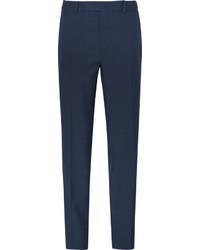 Pantalon de costume bleu marine Alexander McQueen