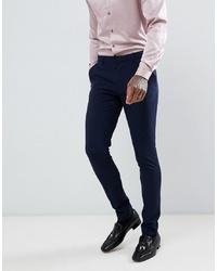 Pantalon de costume bleu marine ASOS DESIGN
