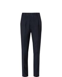 Pantalon de costume bleu marine Brunello Cucinelli