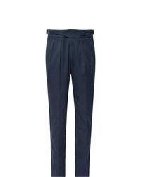 Pantalon de costume bleu marine Rubinacci
