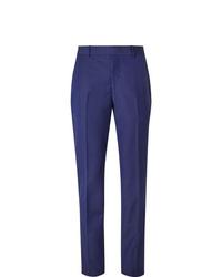 Pantalon de costume bleu Alexander McQueen