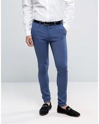 Pantalon de costume bleu Asos