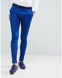 Pantalon de costume bleu Devils Advocate