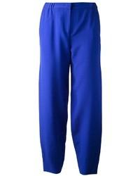 Pantalon de costume bleu Fendi