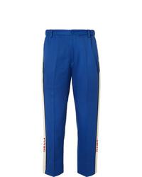 Pantalon de costume bleu Gucci