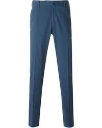 Pantalon de costume bleu Incotex