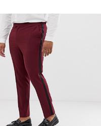 Pantalon de costume bordeaux ASOS DESIGN