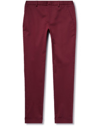 Pantalon de costume bordeaux Gucci