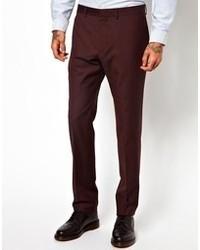Pantalon de costume bordeaux Ps By Paul Smith