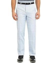 Pantalon de costume écossais bleu clair
