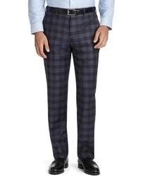 Pantalon de costume écossais bleu marine