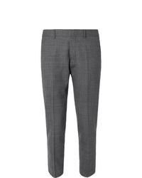 Pantalon de costume écossais gris foncé Ami