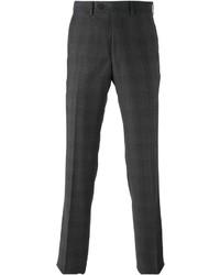 Pantalon de costume écossais gris foncé Armani Collezioni