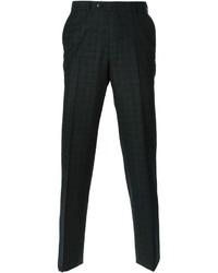 Pantalon de costume écossais gris foncé Ermenegildo Zegna
