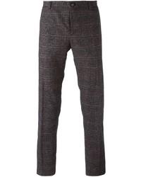 Pantalon de costume écossais gris foncé Etro