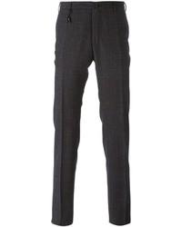 Pantalon de costume écossais gris foncé Incotex