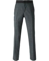 Pantalon de costume écossais gris foncé Lanvin