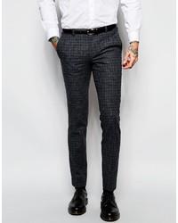 Pantalon de costume écossais gris foncé