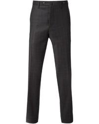 Pantalon de costume écossais gris foncé Pt01