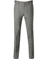 Pantalon de costume écossais gris