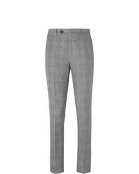 Pantalon de costume écossais gris Brunello Cucinelli