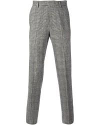 Pantalon de costume écossais gris Ermanno Scervino
