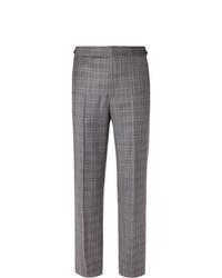 Pantalon de costume écossais gris Gabriela Hearst