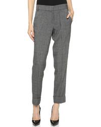 Pantalon de costume écossais gris James Jeans