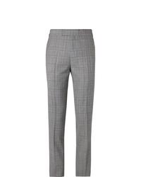 Pantalon de costume écossais gris Kingsman
